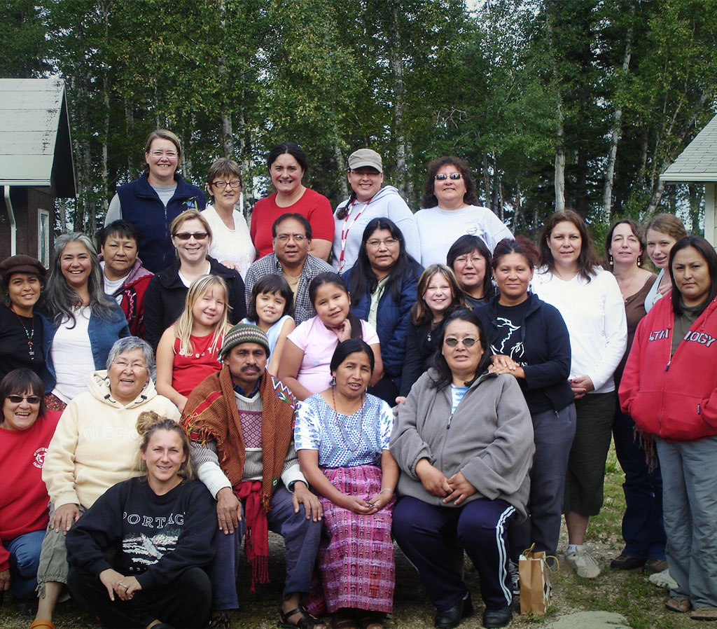 Inter-cultural exchange between Aboriginal midwifery students and Mayan elders at a traditional medicine camp near Clearwater Lake, Manitoba