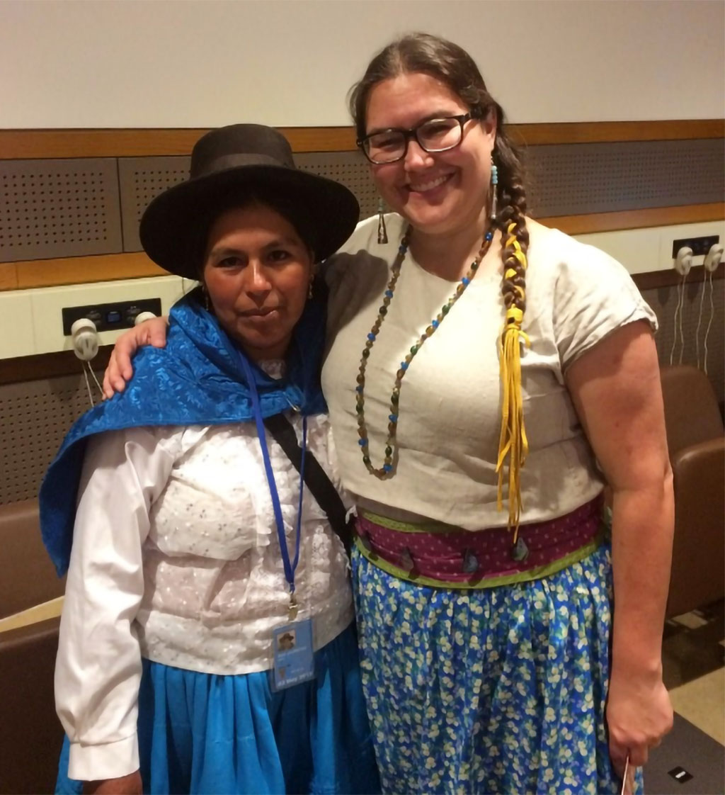 Doris, an apprentice midwife from Vilcashuamán, Peru, andCheryllee